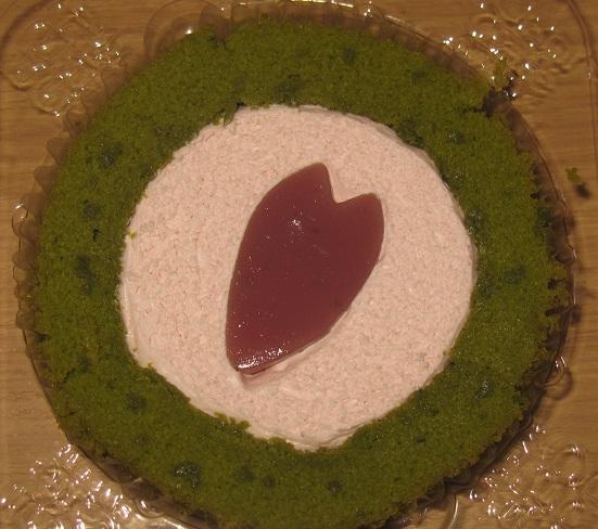 桜-桜と抹茶のロールケーキ