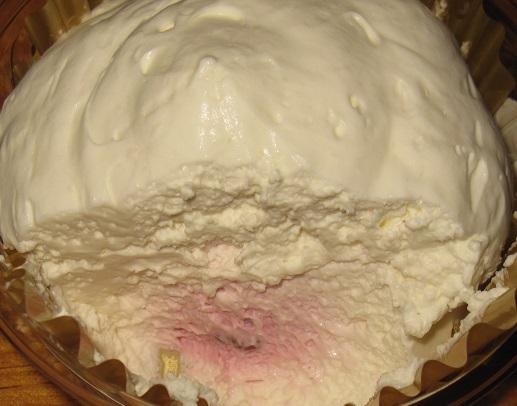 もこもこチーズケーキ(ベリーソース入り)4