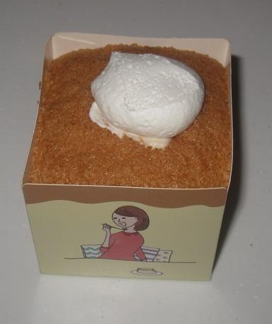 四角いシフォンケーキ(ホイップクリーム&カスタード)