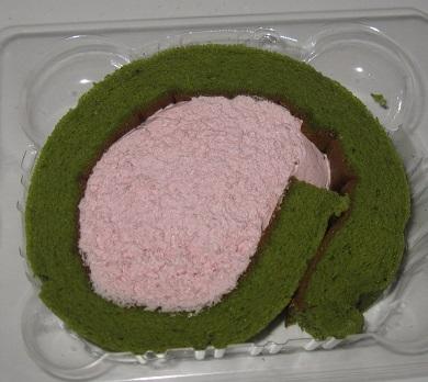 お花見ロール(抹茶&苺)