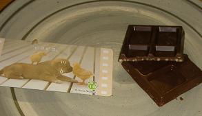 おしゃべりわんこクランチチョコレート