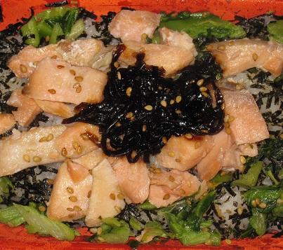 広島菜鮭御飯(しそ昆布入り)