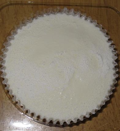 白いとろけるチーズケーキ