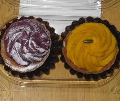 プチタルト(えびすかぼちゃ&紫芋)