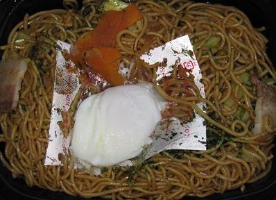 鉄板焼ソース焼そば(半熟玉子添え)