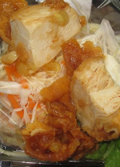 鶏唐揚げのパスタサラダ