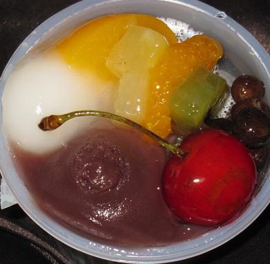 山形県産佐藤錦のフルーツあんみつ