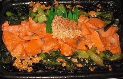 紅鮭と博多辛子明太子の御飯
