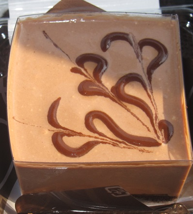 四角いプリンのケーキ(チョコ)