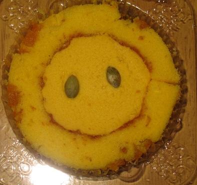 スプーンで食べるプレミアムかぼちゃ三昧ロールケーキ
