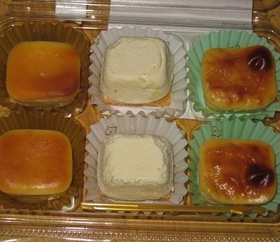 3種のチーズスイーツ(クリームチーズ/カマンベール/ゴルゴンゾーラ)