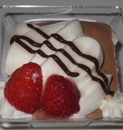 カカオ香るチョコと苺のパフェ